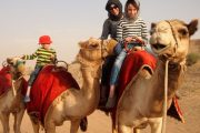 Deser Dubai Camel Ride Family