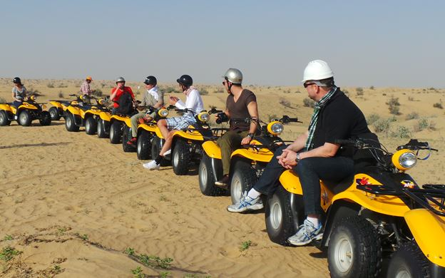 evening desert safari with quad bike Dubai Quad Bike Desert Safari