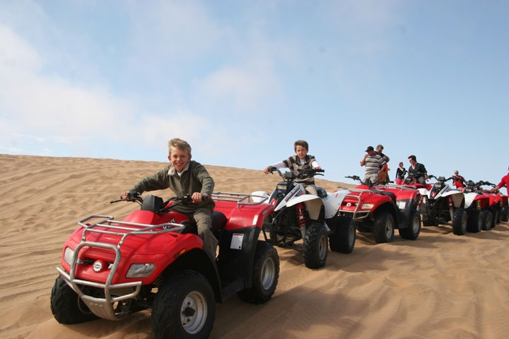Quad biking evening desert safari