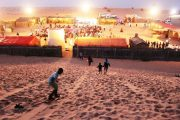 sand boarding on high dunes