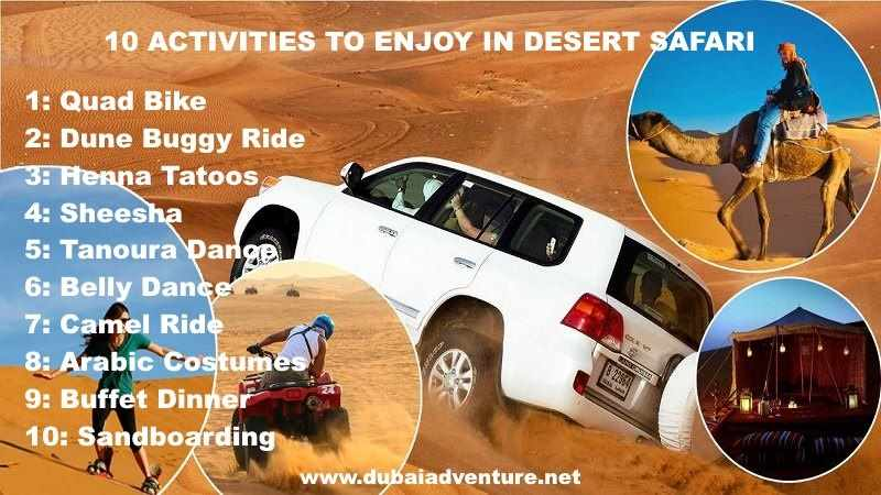 10 activities in desert dubai
