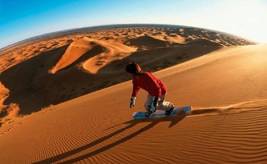 Sandboarding dubai desert safari